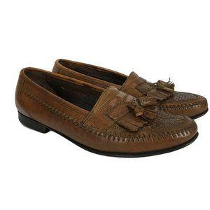 Florsheim Mens Size 8D Brown Tassel Loafer